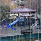Work has started on upgrading a playground by The Bathhouse Restaurant, on the shore of Lake...