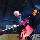 Dunedin amateur astronomer Mirko Harnisch readies the main telescope at the city's Beverly-Begg...