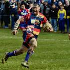 Harbour prop Giorgio Bower, who scored the decisive try in his side's semifinal win over Taieri...