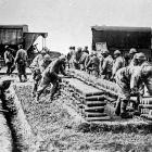 Shells and still more shells dumped by the million in France ready for the call of the gunners. -...