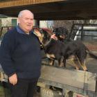 Retired farmer and wool classer Alastair Eckhoff, of Moa Creek, (pictured with Rosie and Chloe),...