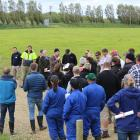 AgResearch senior scientist Ross Monaghan talks at a dairy hub field day last year about the...