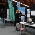 Visitors view the latest and greatest in deer farming at the Deer Technology Expo in Gore...