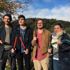 Dunedin Botanic Garden interns (from left) Jonathan Wilson, of Wales, Noud Hoofwijk, of the...