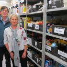 Salvation Army Community Ministries manager David McKenzie and Foodbank co-ordinator Gail Geels...