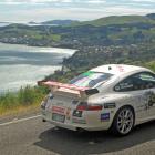 Targa Rally on Highcliff Rd, Otago Peninsiula, in 2014. Photo: John Fridd