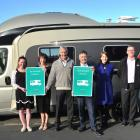 Celebrating Mosgiel being awarded ''motorhome-friendly'' status last week are (from left) Mosgiel...