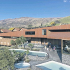 A proposed $24million complex in Cardrona village will include 12 hot pools and tubs as well as...