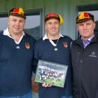 From left: Dan Meikle, Chris Linwood and Gary Heselwood, from the Waitaki Boys' team of 1998....