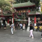 The paifang, or entrance gate, in Dixon St, Sydney. PHOTOS: GILLIAN VINE