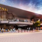 An artist's impression of the entrance from Esk St into the food precinct in the proposed new ...