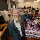 iD Dunedin Fashion Week Committee chairwoman and Otago Polytechnic lecturer Margo Barton shows...