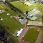 An aerial shot of Logan Park. Photo: ODT