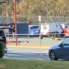 A man is dead after his ute exploded while picking his kids up from school in Canberra. Photo: Twitter