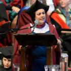 Medical researcher Dr Ayesha Verrall gives the University of Otago graduation address on Saturday.