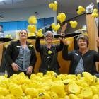 ANZ Balclutha staff members (from left) Crystal Steel, Natalie Paterson and Pauline Simonsen...