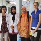 University of Otago research fellow Merrin Rutherford (far right) and Tb researcher Lika Apriani ...