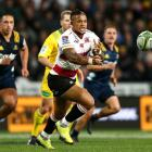 Elton Jantjies in action for the Lions against the Highlanders earlier this year. Photo: Getty...