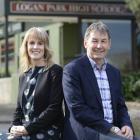 Logan Park High School co-principals Kristan Mouat and Peter Hills. PHOTO: GERARD O'BRIEN