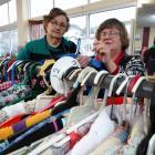 St Vincent de Paul opportunity shop staff member Kate Houlihan (left) and manager Janette...