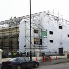 Scaffolding is coming down at the historic Oamaru courthouse in Thames St after six months of...