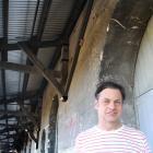 Oamaru Whitestone Civic Trust restoration officer John Baster catches some shade under the first...