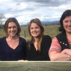 Emma Crutchley (left), Frankie Hore (centre) and Kelly Keckler believe the Upper Taieri could...
