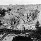 The headquarters of a New Zealand brigade near the fighting line on the Western Front. — Otago...