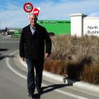 Tony Spivey, of Oamaru's Spivey Real Estate, at the North Oamaru Business Park, where Apex...