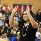 Year 11 Waitaki Girls' High School pupil Sinamoni Sikei, of Oamaru, performs at the North Otago...