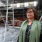 Waitaki District Council property manager Renee Julius inspects work at the historic Oamaru...