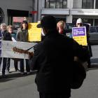 Dunedin learning support specialists rally outside the Ministry of Education offices in Moray Pl...