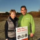 Friends of Tucker Beach Wildlife Management Reserve chairwoman Rosemary Barnett and Department of...