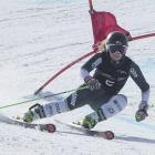 Queenstown teen Alice Robinson wins the giant slalom race at Coronet Peak yesterday, claiming New...