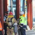 Emergency services outside SIT on Don St in Invercargill after a threat to the building this...