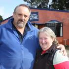 Clarks Junction Hotel owners Adrian and Gillian Bardrick outside the eye-catching establishment....