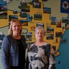 Otago Community Trust chief executive Barbara Bridger (left) and grants adviser Carol Melville...