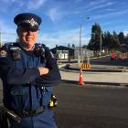 Senior Constable Fred Jansen is urging motorists to indicate correctly when navigating the three...