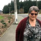 Pam Harris, of Sunnyvale, believes the position of a power pole on a footpath in Main South Rd...
