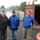 Green Island Shed men (from left) David Mackle, Ian Hand and Bruce Cromb look forward to...