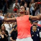 Rafael Nadal of Spain after beating Karen Khachanov of Russia in a third round match on day five...