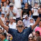 Novak Djokovic celebrates his win over Joao Sousa. Photo: Robert Deutsch-USA TODAY Sports