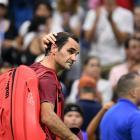 Roger Federer leaves the court after his loss to John Millman. Photo: Danielle Parhizkaran-USA...