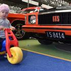 Keira Crossan (20 months) rolls out at the Autospectacular on Saturday. Photos: Gerard O'Brien