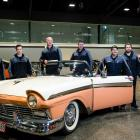 The Transport World workshop team in Invercargill preparing for the 2018 Autospectacular event in...