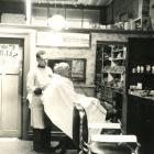 The saloon at Clark's barber shop in Timaru about 1960. PHOTO: SOUTH CANTERBURY MUSEUM 7802...