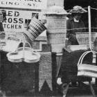 A selection of basketware made by wounded soldiers and sold at the Montecillo Red Cross stall at...
