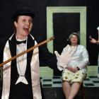 Blood of the Lamb actors (from left) Helen Fearnley, Toni White and Anna Dawes rehearse at the...