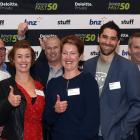 At the Fast 50 business awards last night, from left: Rod Marvin of South Pacific Fire Protection...