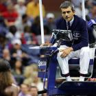 Carlos Ramos interacts with Serena Williams during the US Open final last weekend. Photo: Getty...
